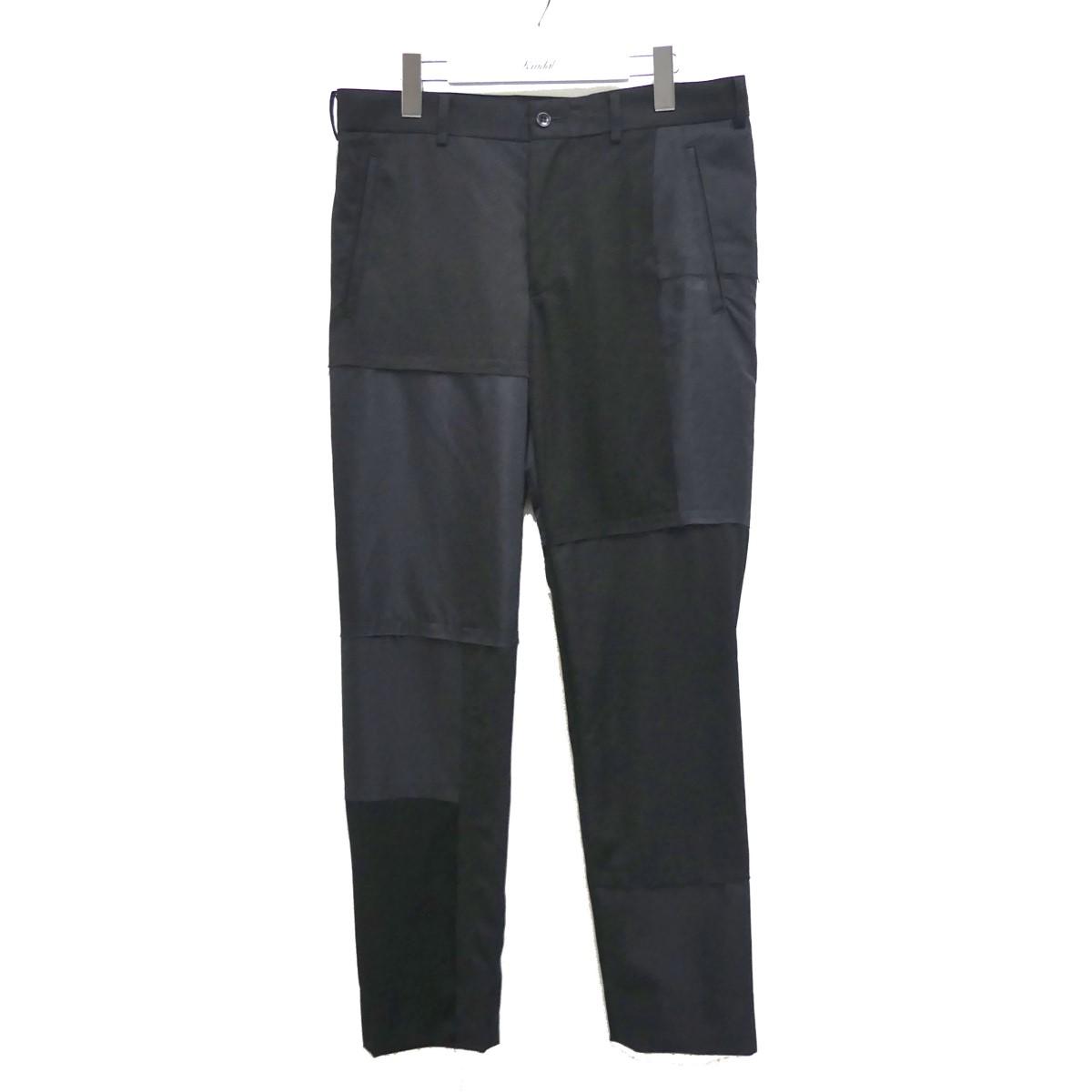 【中古】BLACK COMME des GARCONS 切替デザインパンツ ブラック サイズ:M 【010720】(ブラックコムデギャルソン)