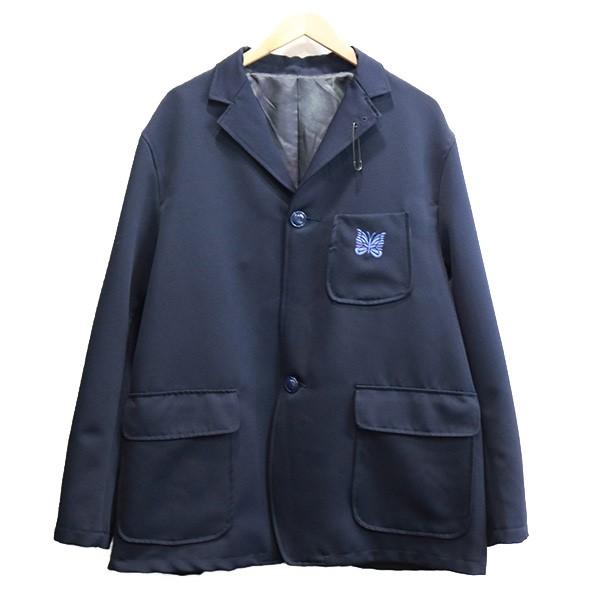 【中古】NEEDLES × BEAMS 18AW Extreme Preppy 2Bジャケット ネイビー サイズ:L 【010720】(ニードルス×ビームス)