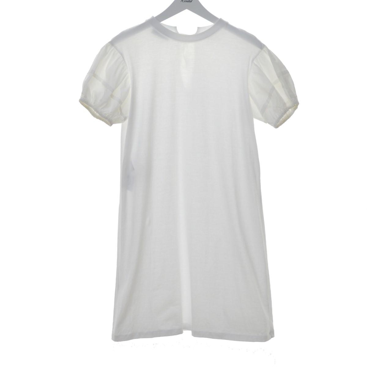 【中古】PRADA 袖切り替えワンピース ホワイト サイズ:S 【020720】(プラダ)