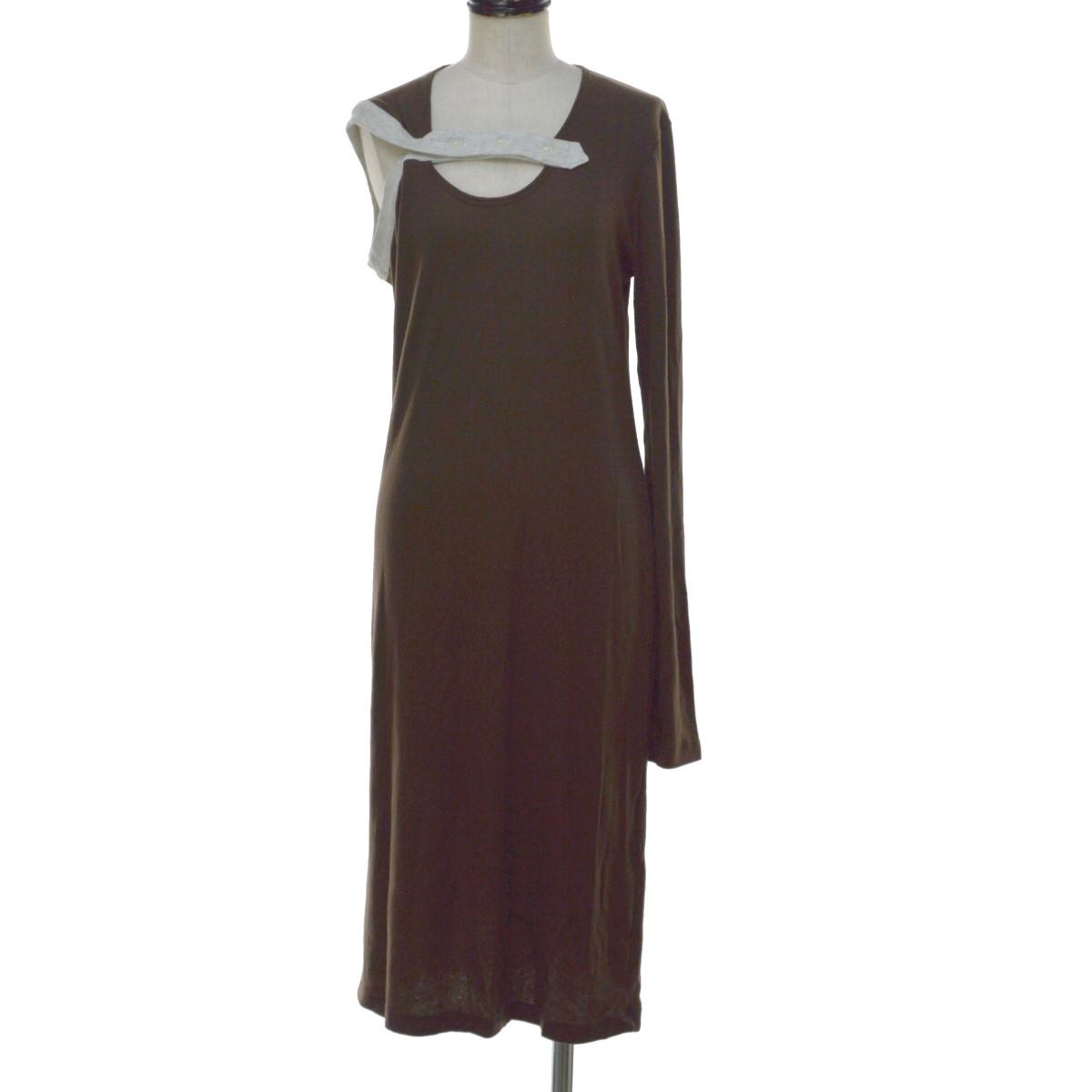 【中古】KOTOHA YOKOZAWA 19SS Asymmetry Dress ワンピース ブラウン サイズ:Free 【020720】(コトハヨコザワ)