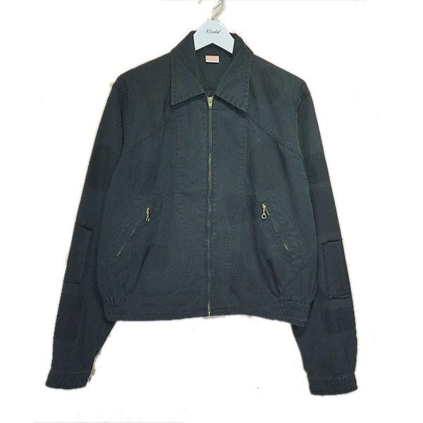 【中古】MAISON EUREKA 2019SS「BURBERRY CLOTH WORK JACKET」ジップアップジャケット ブラック サイズ:M 【020720】(メゾンエウレカ)