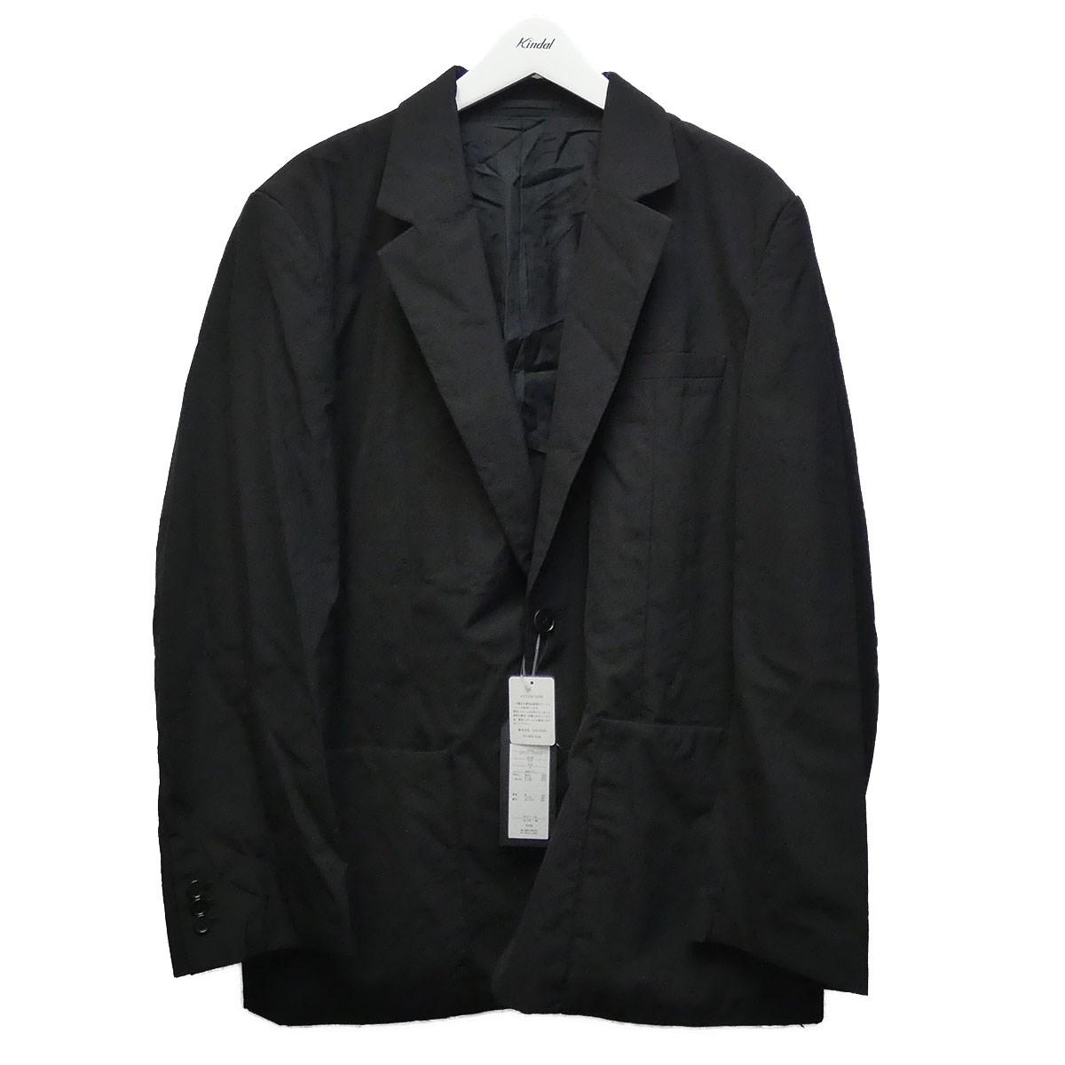 【中古】UNUSED 20SS 「Wool Silk 2 Buttons Jacket」テーラードジャケット ブラック サイズ:3 【020720】(アンユーズド)