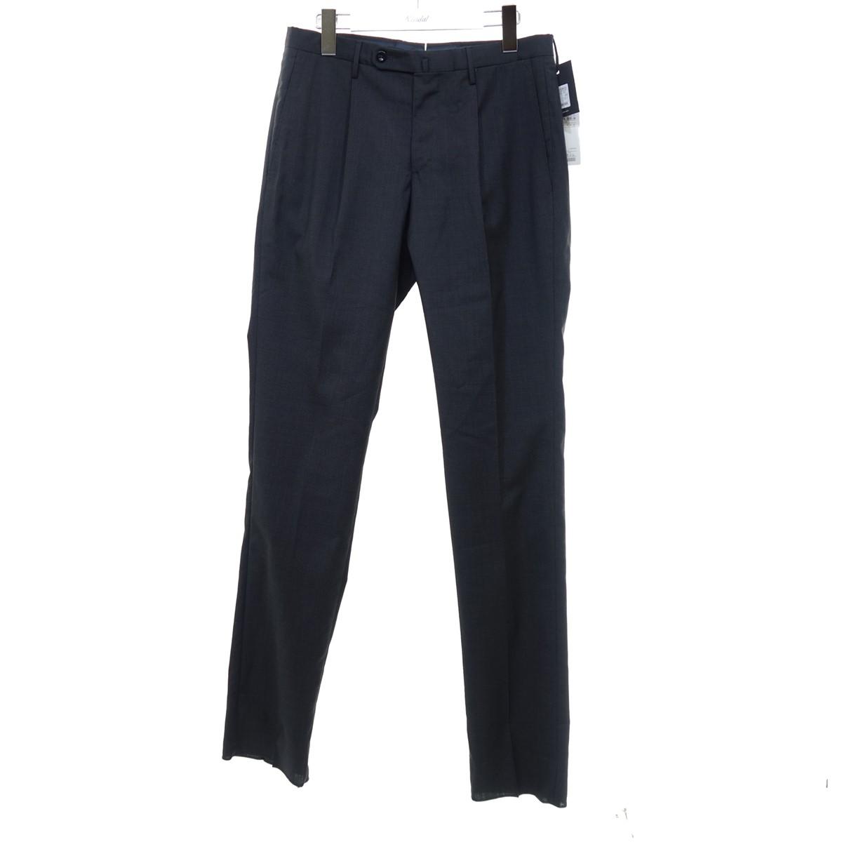 【中古】INCOTEX タックパンツ スラックス ダークグレー サイズ:44 【030720】(インコテックス)