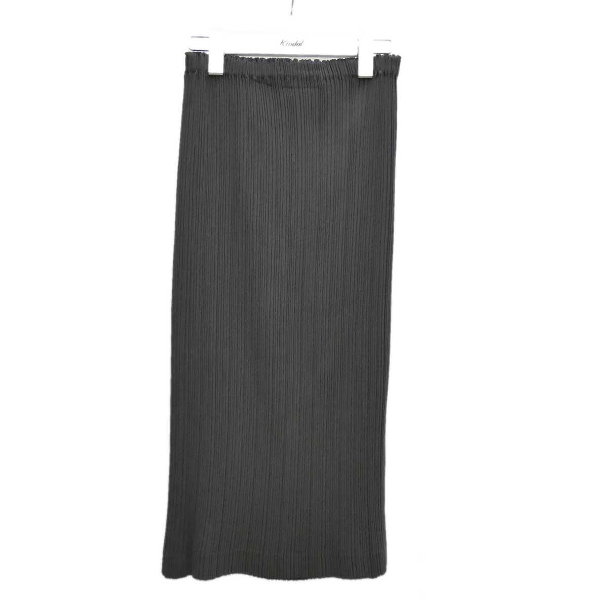 【中古】ISSEY MIYAKE プリーツスカート グレー サイズ:S 【030720】(イッセイミヤケ)