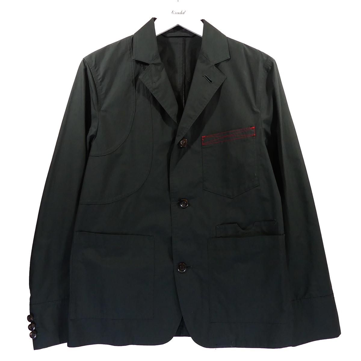 【中古】SYU.HOMME/FEMM 18SS コットンジャケット グリーン サイズ:1 【050720】(シュウ オム フェム)