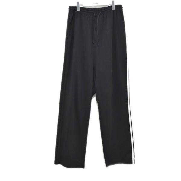 【中古】Y-3 3-STRIPES WIDE PANTS ワイドパンツ ブラック サイズ:S 【050720】(ワイスリー)