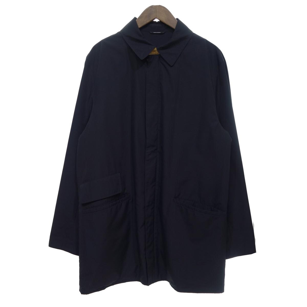 【中古】HERMES ジップアップ コート ブラック サイズ:50 【050720】(エルメス)