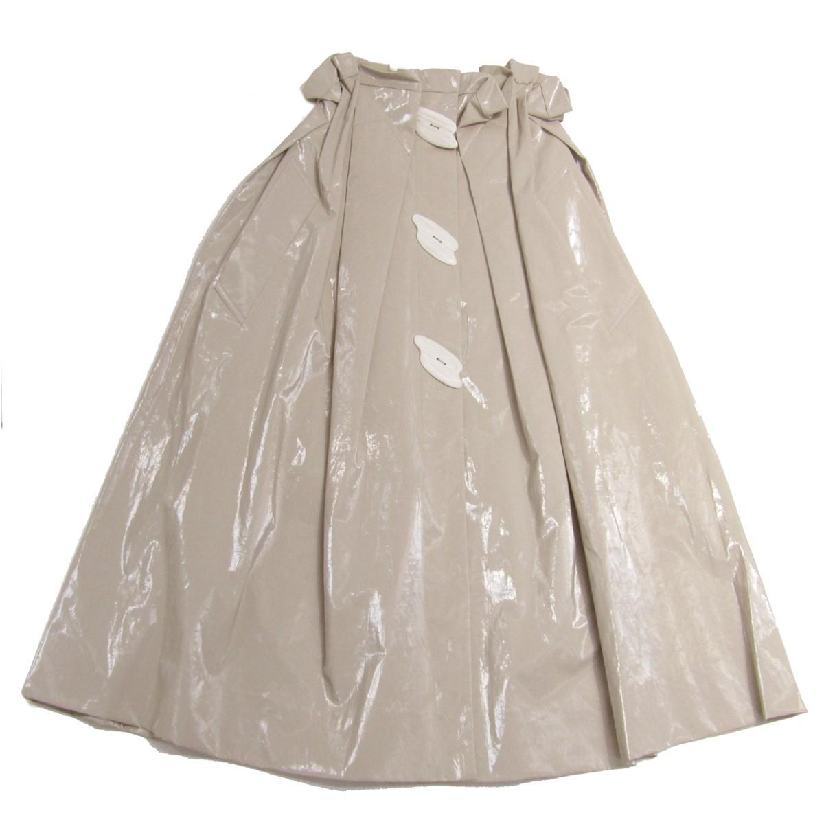 【中古】IRENE 2018AW フロントボタンコーティングスカート ベージュ サイズ:36 【050720】(アイレネ)