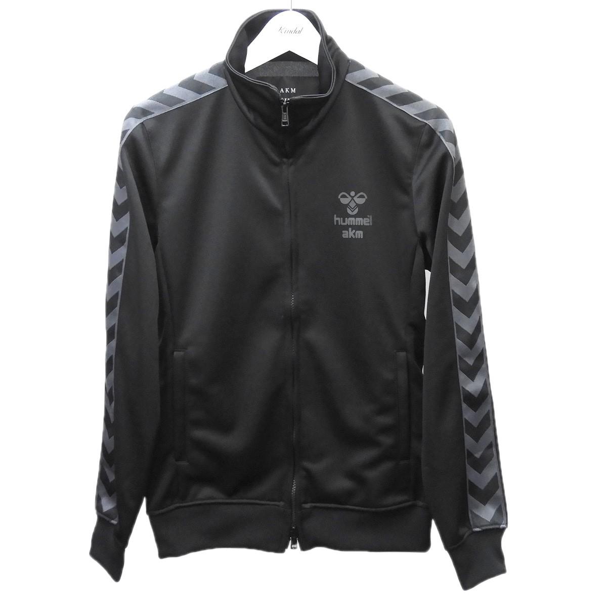 【中古】AKM×HUMMEL 「TRACK JKT」トラックジャケット ブラック サイズ:M 【060720】(エイケイエム ヒュンメル)