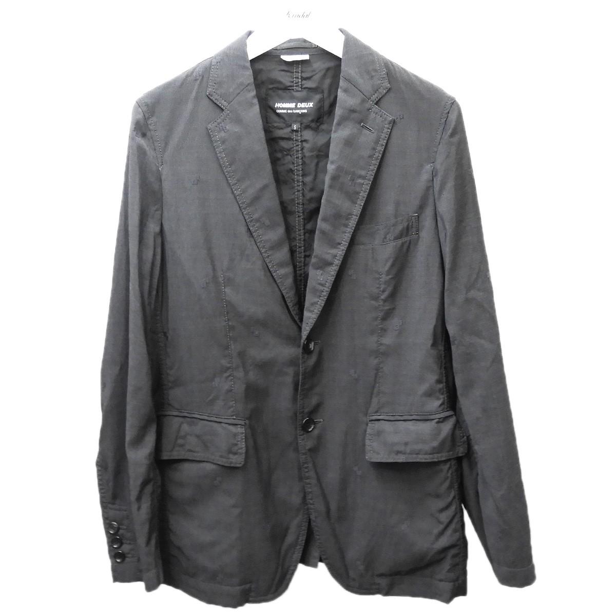 【中古】COMME des GARCONS HOMME DEUX 2019AW テーラードジャケット グレー サイズ:S 【060720】(コムデギャルソンオムドゥ)