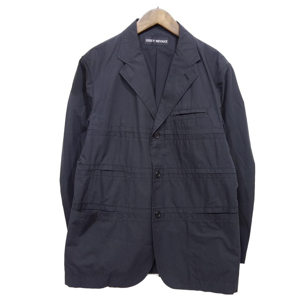 【中古】ISSEY MIYAKE 3Bボタンジャケット ブラック サイズ:2 【050720】(イッセイミヤケ)