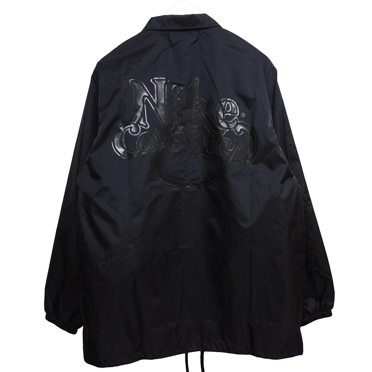 【中古】BLACK COMME des GARCONS×NIKE 2020SS NYLON TAFFETA COACH JACKET ブラック サイズ:L 【050720】(ブラックコムデギャルソン×ナイキ)