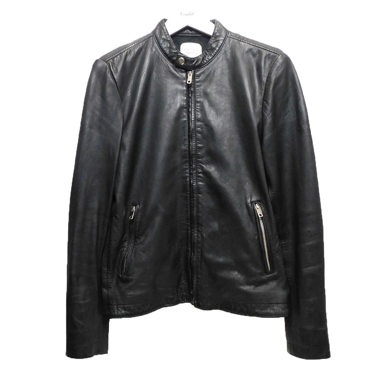 【中古】UNITED TOKYO レザーシングルライダースジャケット ブラック サイズ:1 【060720】(ユナイテッドトウキョウ)