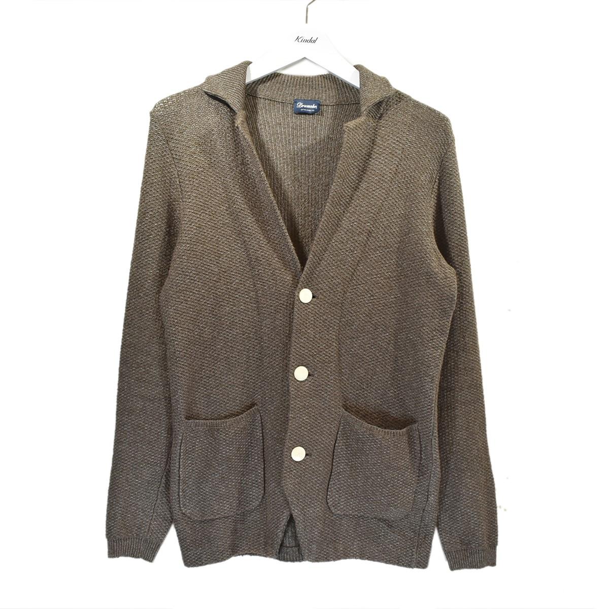 【中古】Drumohr ハニカムニットジャケット ブラウン サイズ:44 【070720】(ドルモア)