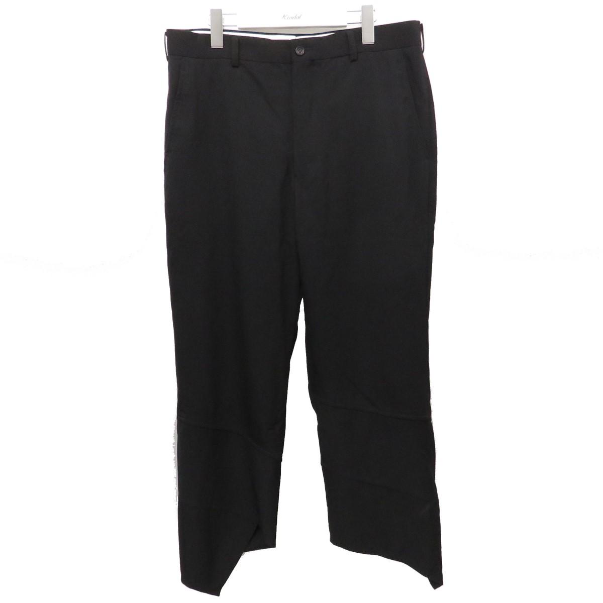 【中古】COMME des GARCONS HOMME PLUS 裾デザインパンツ PC-P086 AD2019 ブラック サイズ:L 【070720】(コムデギャルソンオムプリュス)