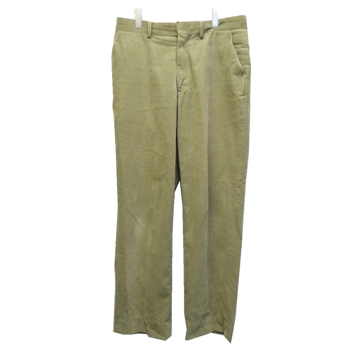 【中古】AURALEE 18SS「WASHED CORDUROY SLACKS」ウォッシュコーデュロイパンツ グリーン サイズ:4 【070720】(オーラリー)