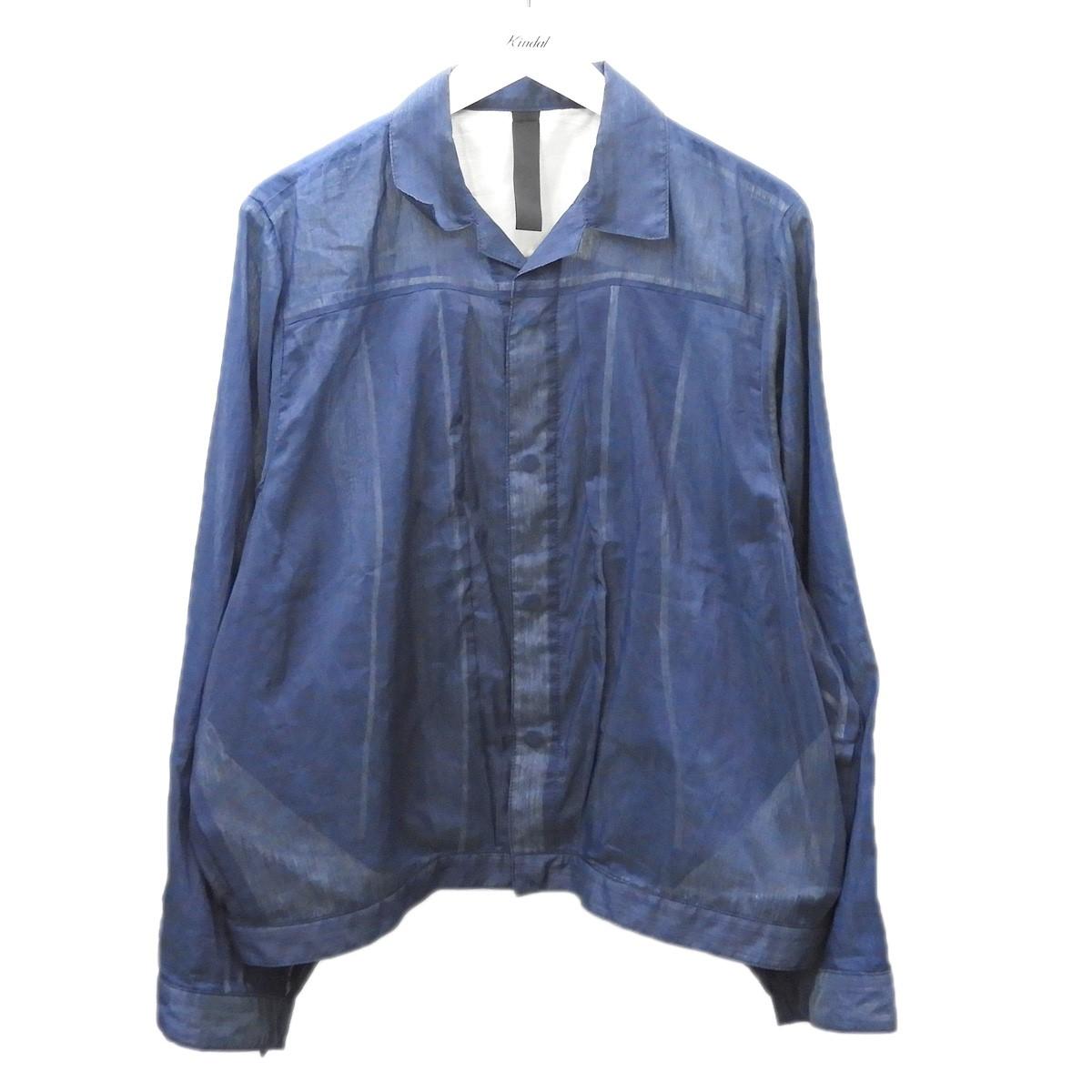 【中古】SHINYA KOZUKA 2018AW シースルートラッカージャケット ネイビー サイズ:M 【080720】(シンヤコヅカ)