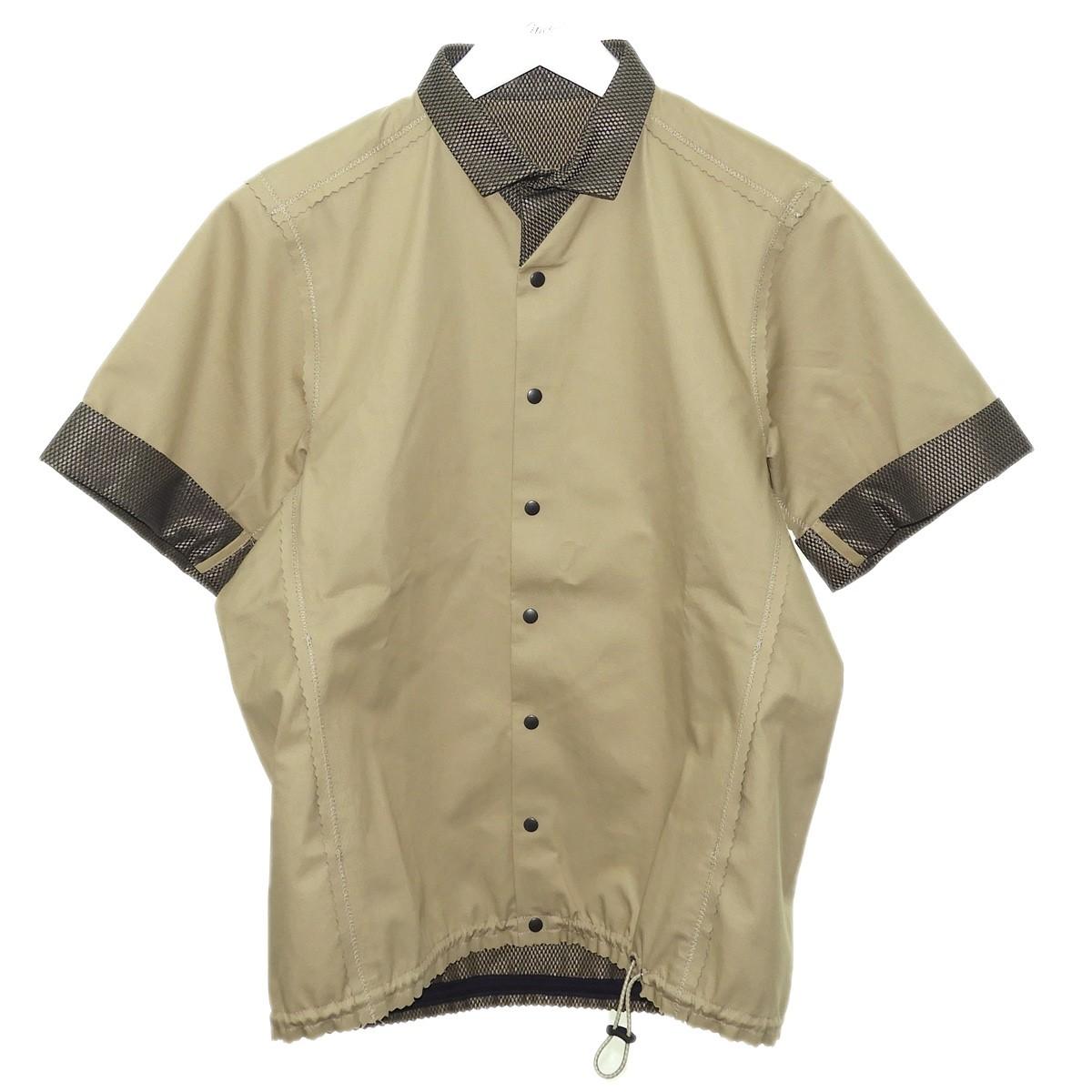 【中古】kolor 2015SS 半袖シャツジャケット ベージュ サイズ:1 【080720】(カラー)