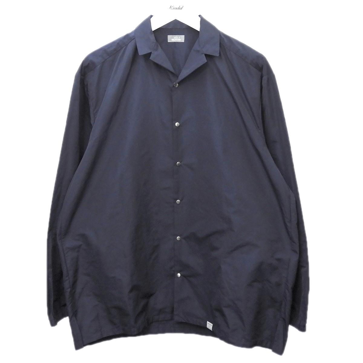 【中古】kolor BEACON 2018AW ポリエステルエアリータフタシャツジャケット ネイビー サイズ:2 【080720】(カラービーコン)