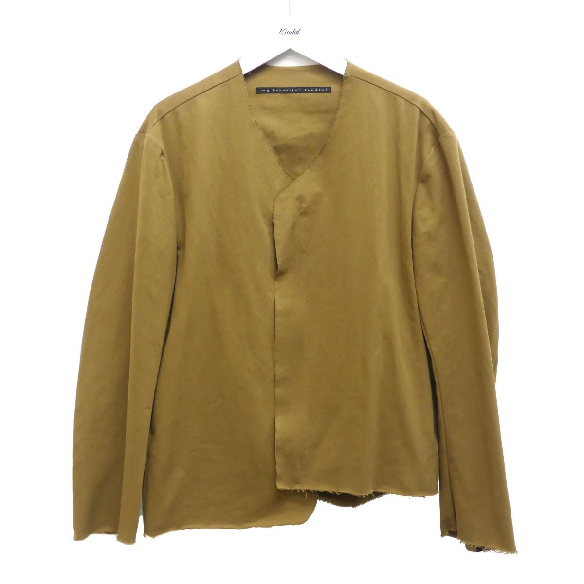 【中古】my beautiful landlet ジップアップジャケット ベージュ サイズ:1 【080720】(マイ ビューティフル ランドレット)