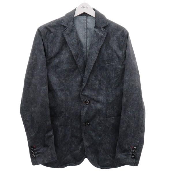 【中古】1piu1uguale3 転写プリントストレッチテーラードジャケット グレー系 サイズ:VI 【080720】(ウノ ピゥ ウノ ウグァーレ トレ)
