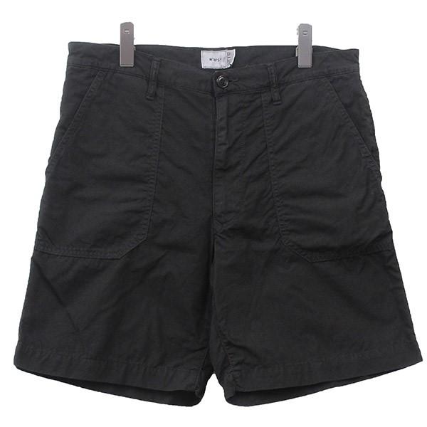 【中古】W)TAPS 2018SS Buds Shorts ショートパンツ ブラック サイズ:X02 【070720】(ダブルタップス)