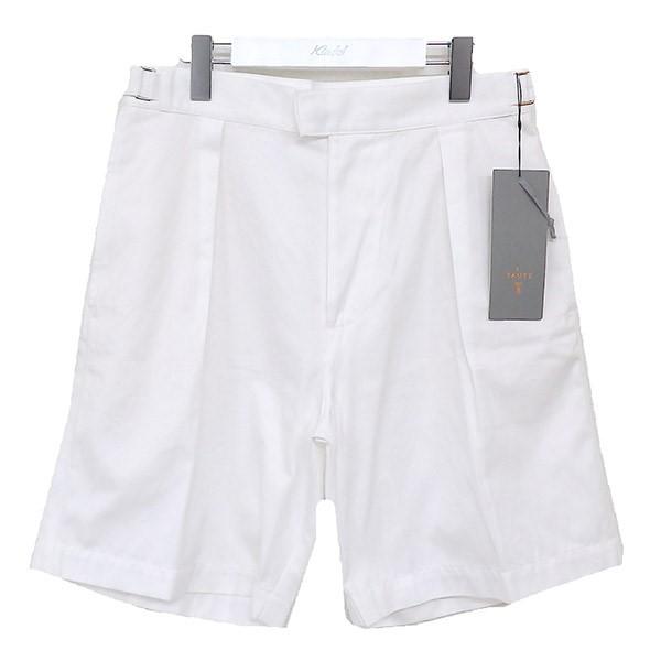 【中古】E.TAUTZ 1プリーツ ワイドショーツ ショートパンツ ホワイト サイズ:30 【070720】(イートウツ)