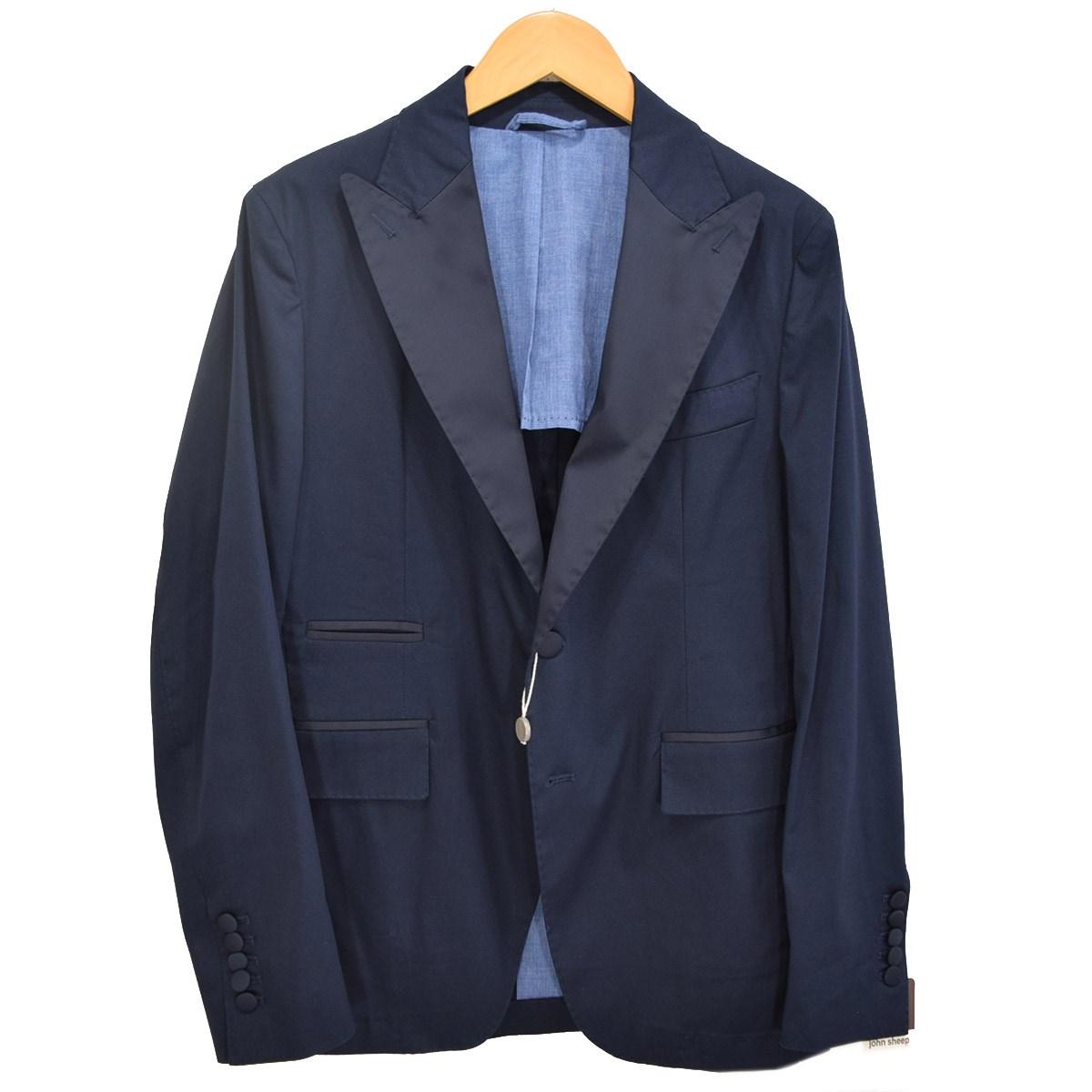 【中古】JOHN SHEEP コットンストレッチ2Bジャケット ネイビー サイズ:46 【080720】(ジョンシープ)