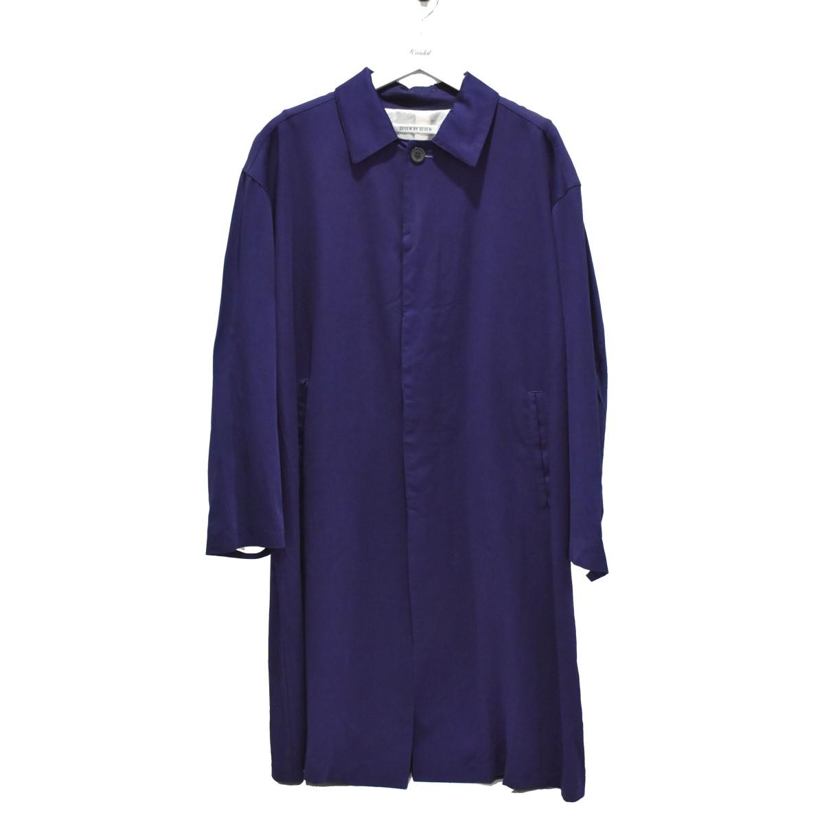 【中古】SEVEN BY SEVEN BAL COLLAR COAT コート ネイビー サイズ:M 【090720】(セブン バイ セブン)
