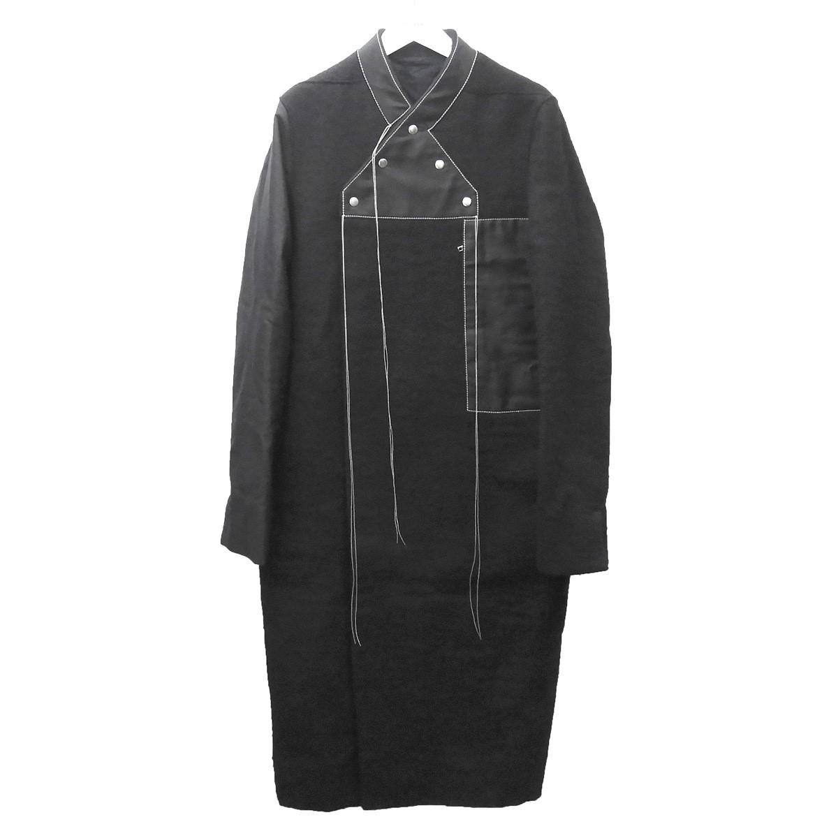 【中古】Rick Owens 2018AW 「Longline Wool WRAP COAT」ラップコート ブラック サイズ:46 【100720】(リックオウエンス)