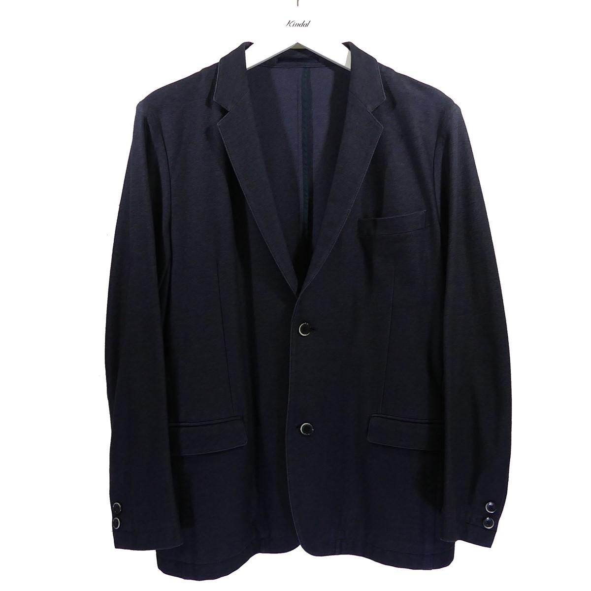 【中古】SOLIDO コットンジャージ テーラードジャケット ネイビー サイズ:04 【100720】(ソリード)