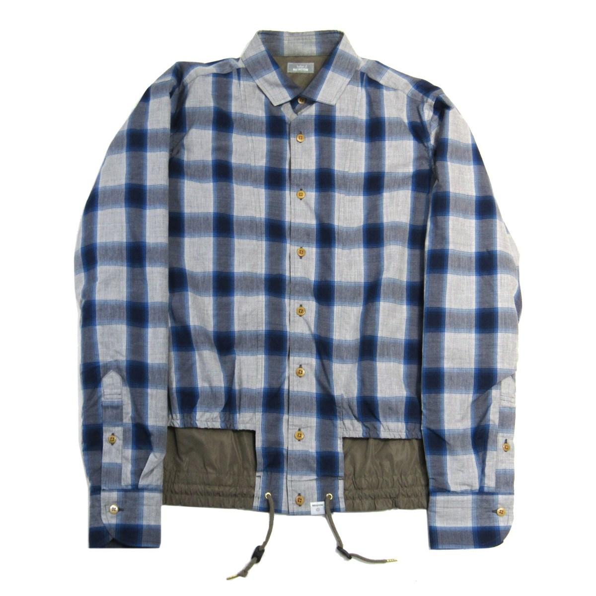 【中古】kolor BEACON 2016AW CHECK SHIRTS チェック柄シャツジャケット ブルー×グレー サイズ:2 【090720】(カラービーコン)