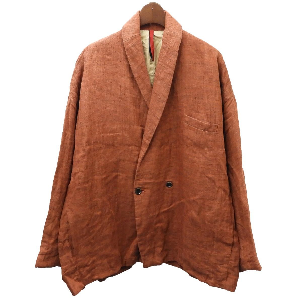 【中古】YANTOR リネンワイドテーラードジャケット オレンジ サイズ:M 【100720】(ヤントル)
