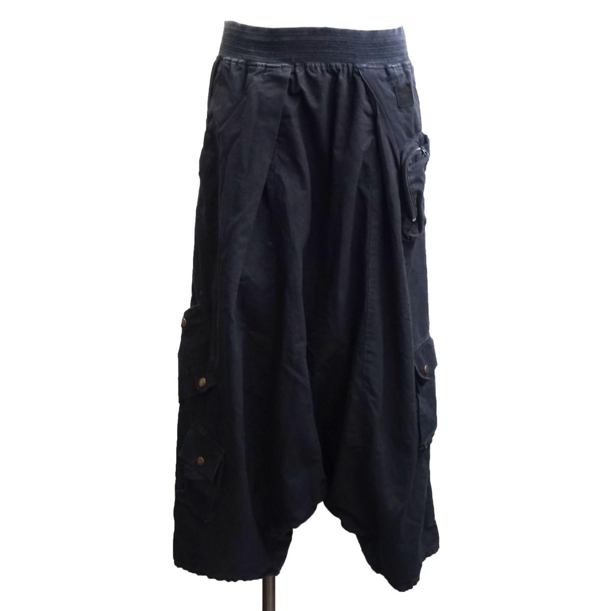 【中古】KAPITAL リップストップシモキタアルパインサルエルパンツ ブラック サイズ:4 【100720】(キャピタル)