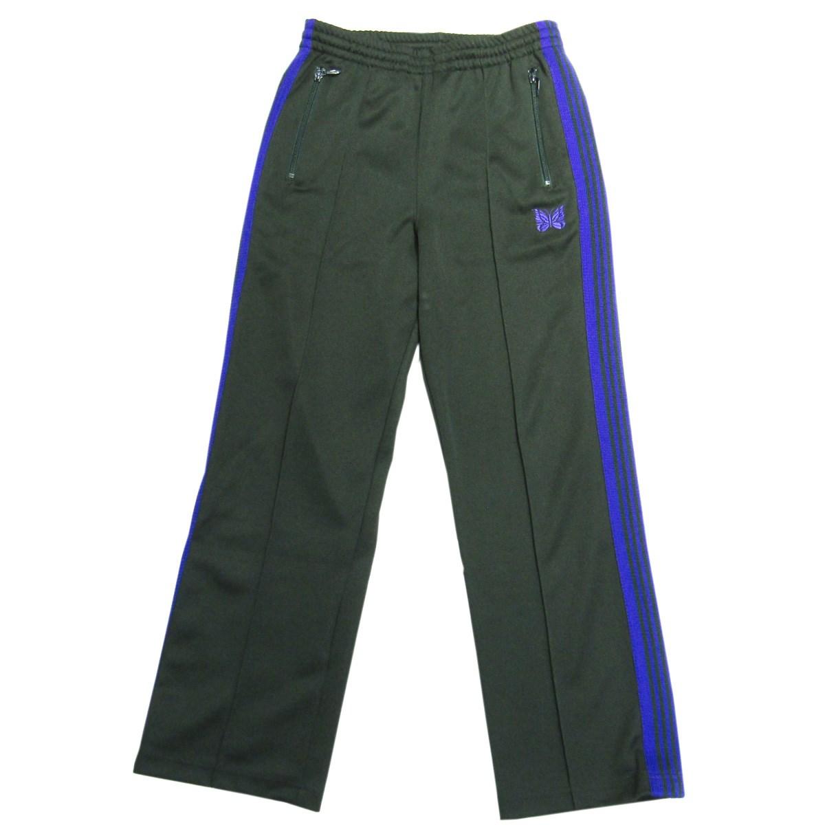 【中古】Needles TRACK PANTS サイドライントラックパンツ グリーン×パープル サイズ:XS 【100720】(ニードルス)