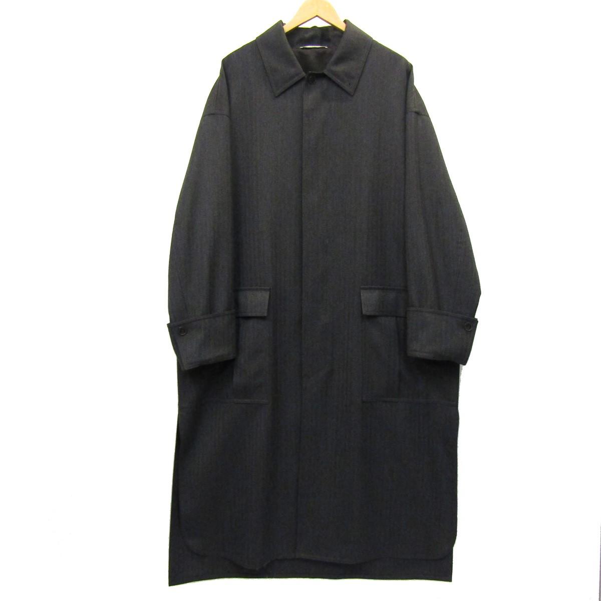 【中古】VALENTINO 2019AW ロングウールコート チャコールグレー サイズ:50 【130720】(ヴァレンチノ)