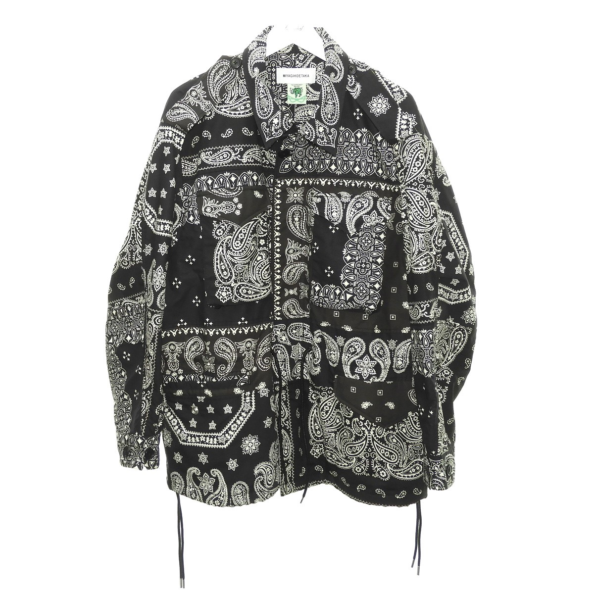 【中古】MIYAGI HIDETAKA 「ELEPHANT BRAND M-51 field jacket」 ブラック サイズ:Free 【140720】(ミヤギヒデタカ)