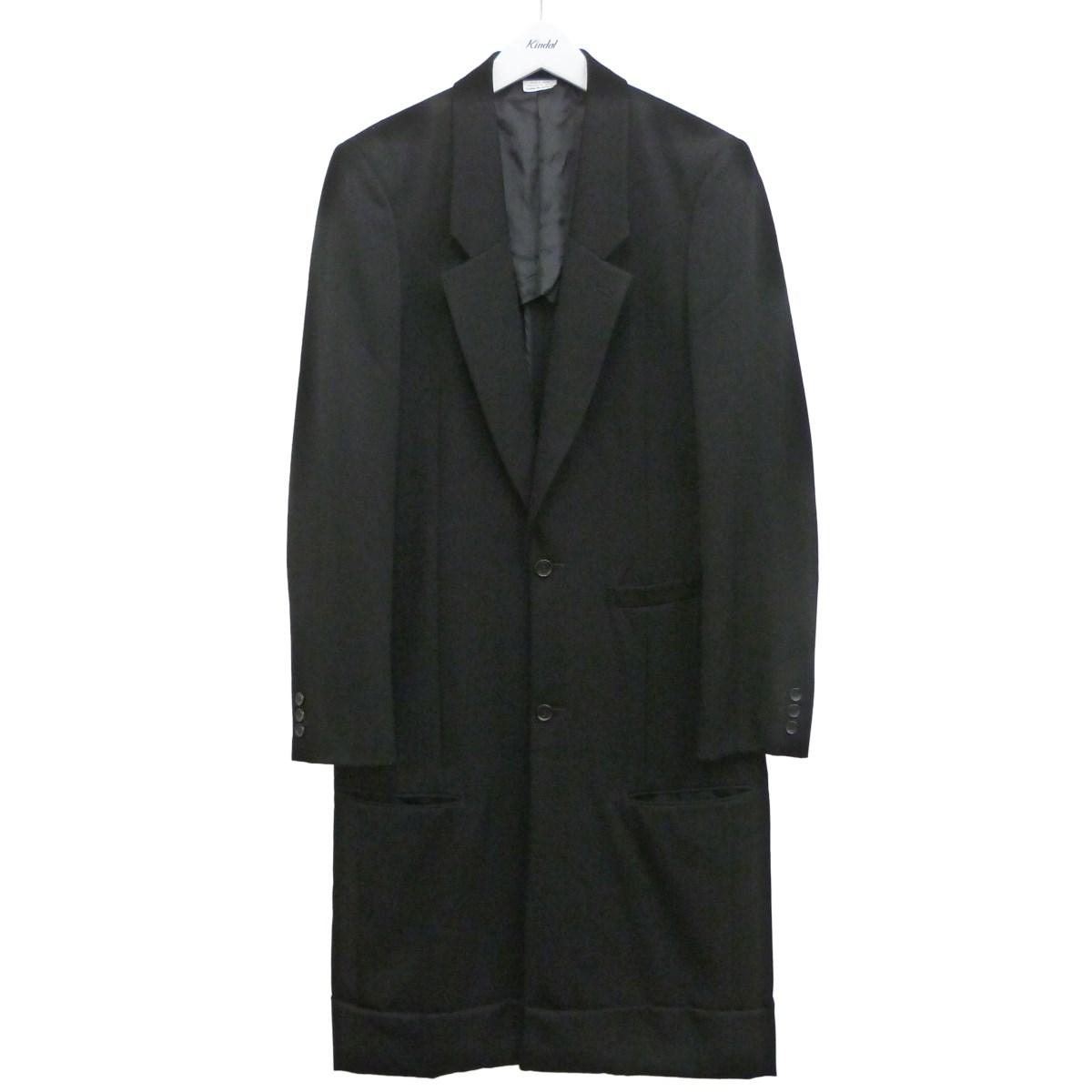 【中古】COMME des GARCONS HOMME PLUS 19AWチェスターコート ブラック サイズ:S 【140720】(コムデギャルソンオムプリュス)