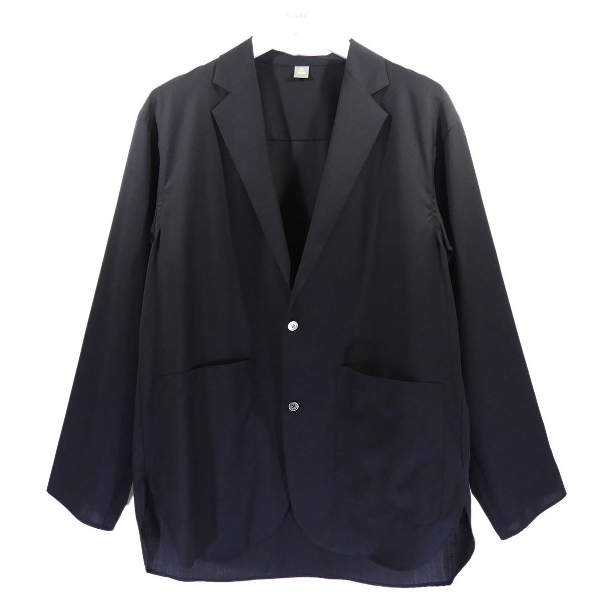 【中古】221VILLAGE 2020SS Super120s シャツジャケット ネイビー サイズ:2 【150720】(ニーニーイチヴィレッジ)