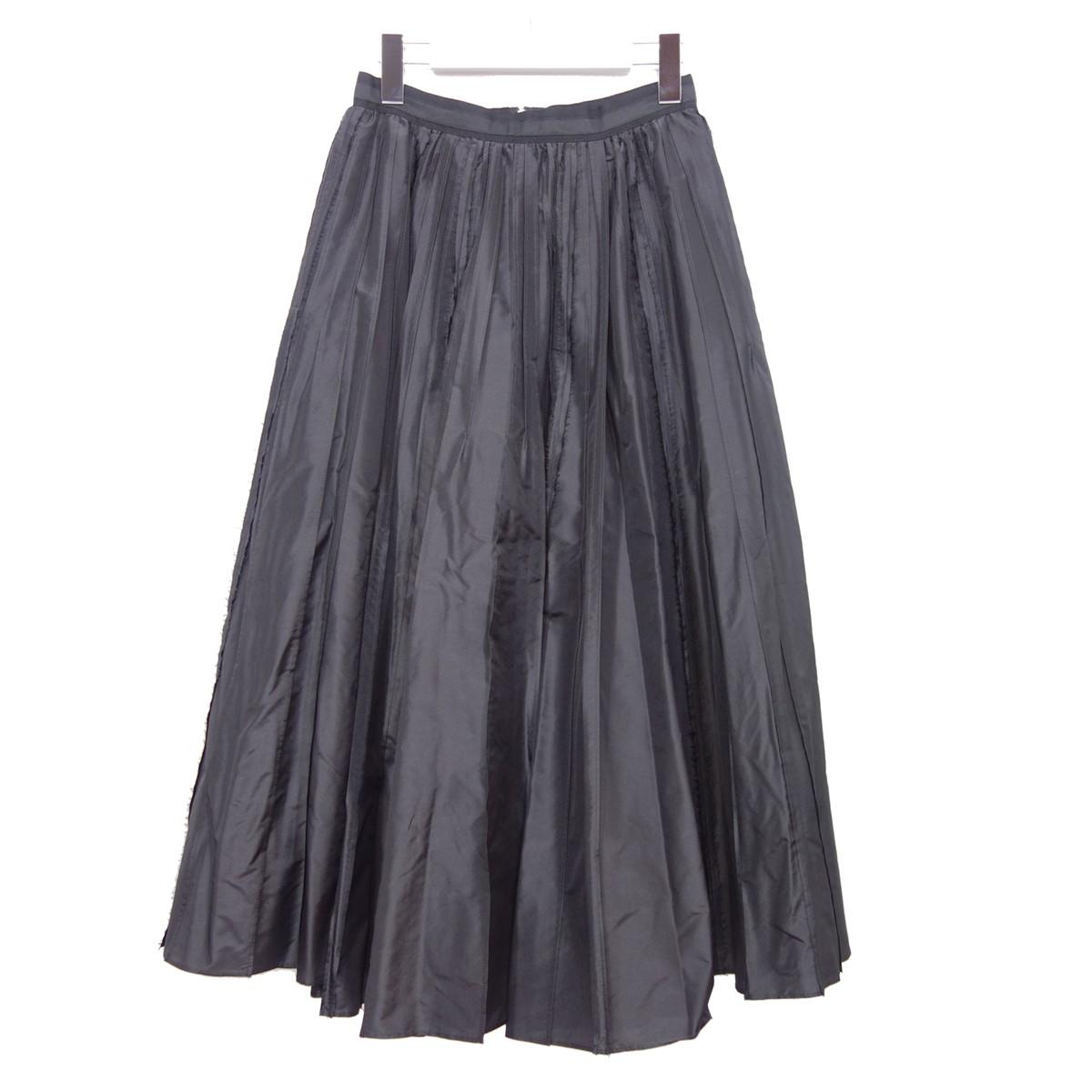 【中古】FOXEY 40992 シルクフレアスカート ブラック サイズ:38 【150720】(フォクシー)
