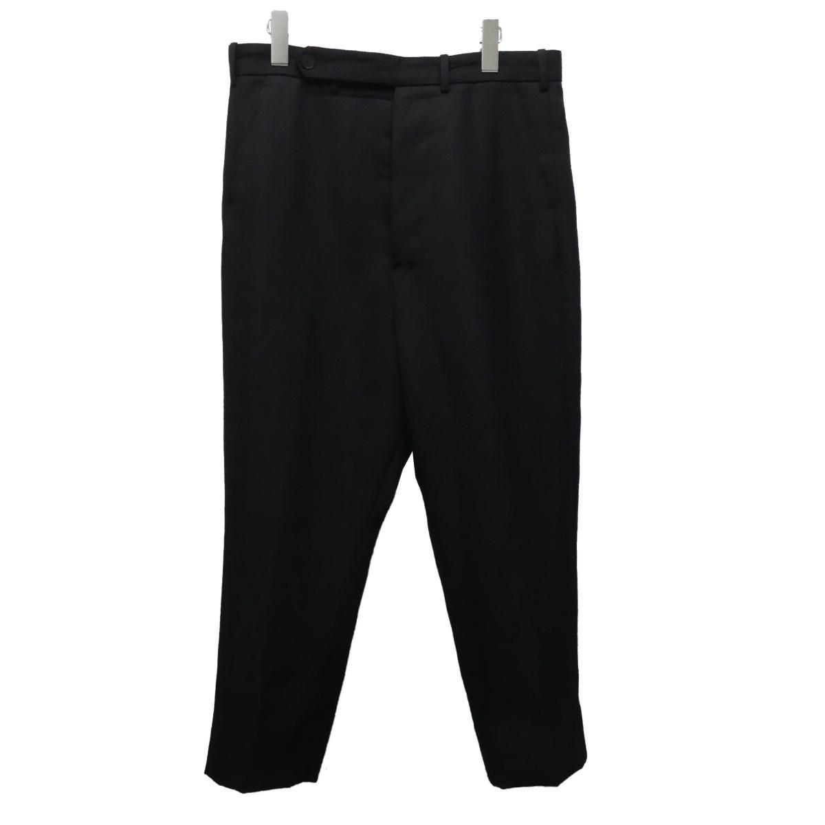 【中古】HAIDER ACKERMANN スラックスパンツ ブラック サイズ:48 【150720】(ハイダーアッカーマン)