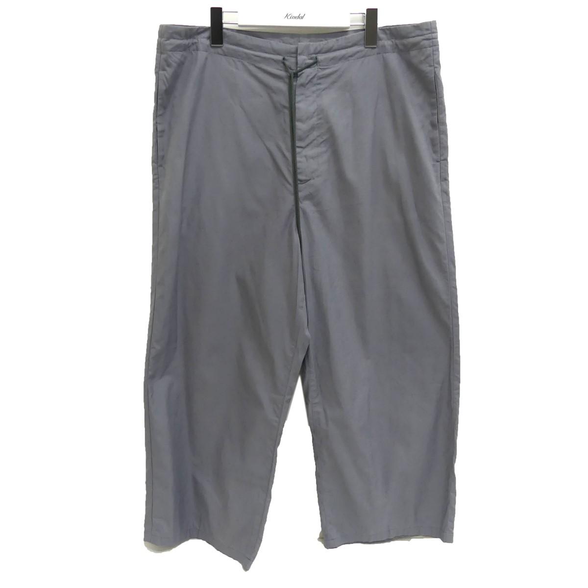 【中古】AURALEE 20SS WASHED FINX TWILL EASY WIDE PANTS ワイドイージーパンツ グレー サイズ:3 【160720】(オーラリー)