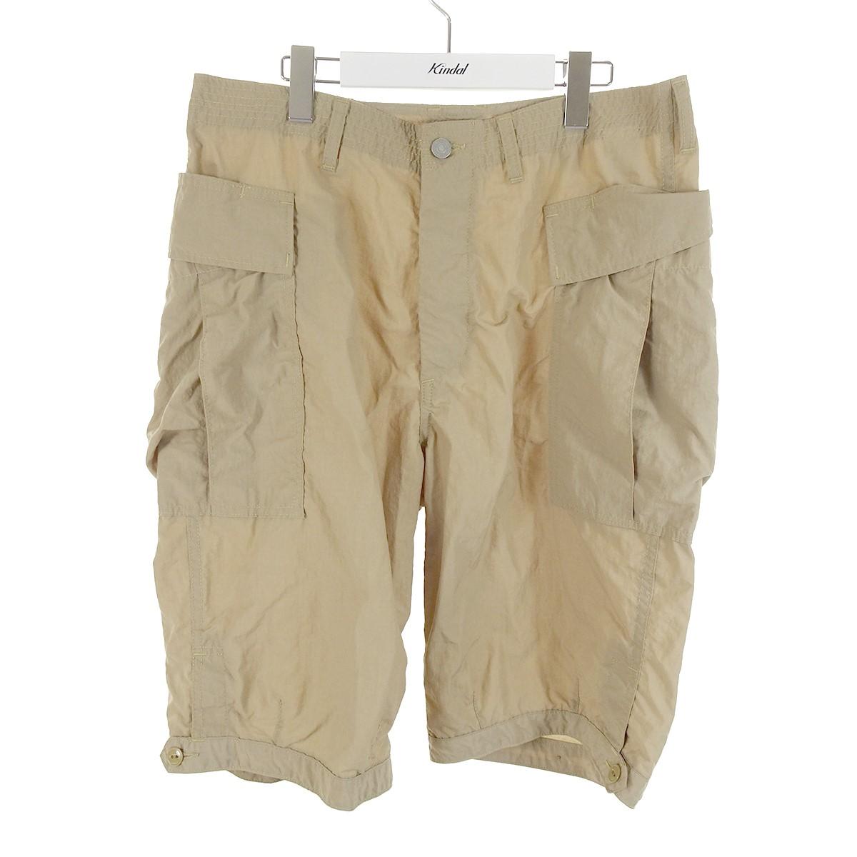 【中古】SASSAFRAS Trug Fatigue Pants 1/2 20SS ナイロンパンツ ベージュ サイズ:L 【160720】(ササフラス)