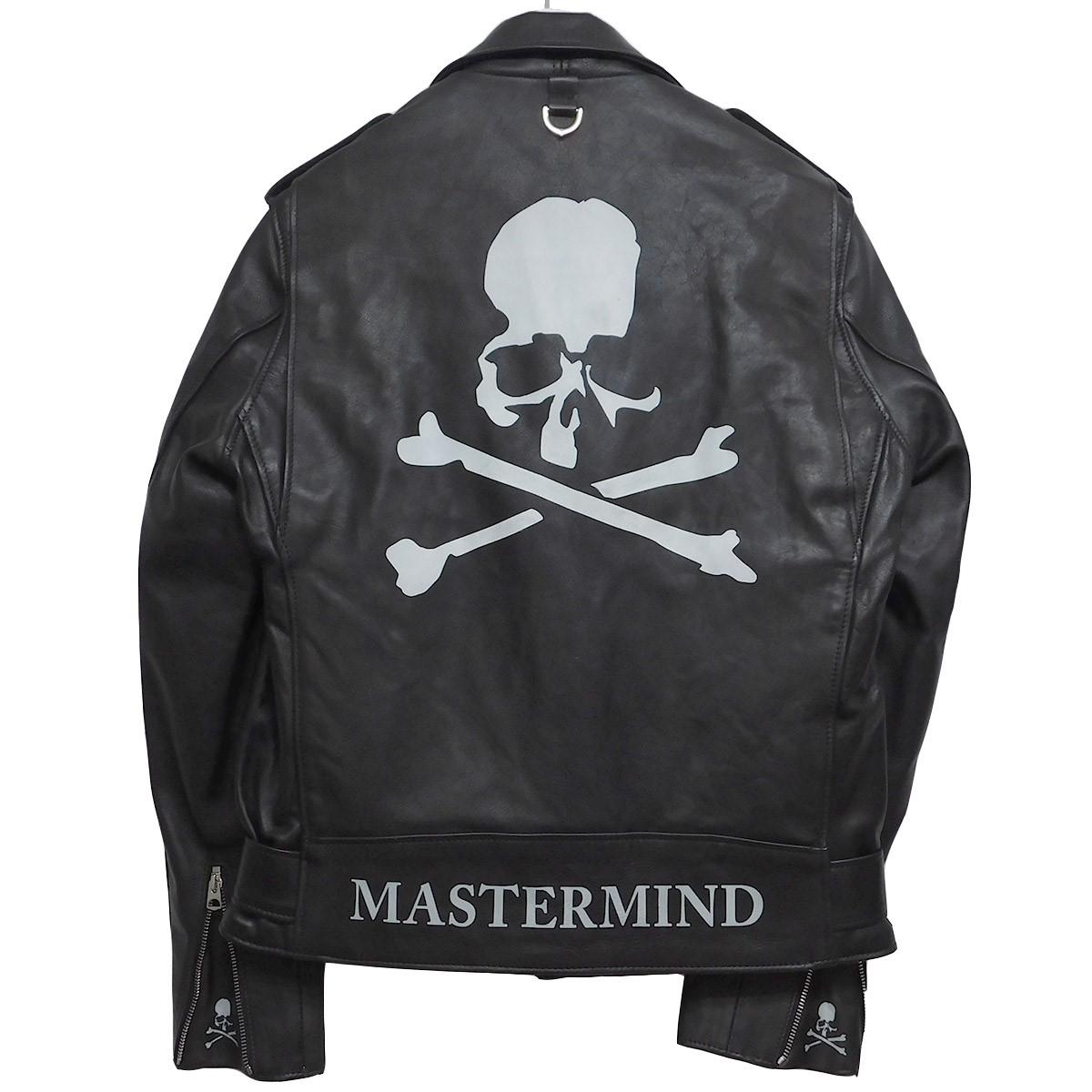 【中古】MASTERMIND WORLD×SCHOTT 613MM ONESTAR MASTERMIND ワンスター ダブルライダース ブラック サイズ:40 【150720】(マスターマインドワールド ショット)