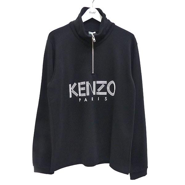 【中古】KENZO 19AW Funnel Neck Zippered Sweatshirt ブラック サイズ:L 【170720】(ケンゾー)