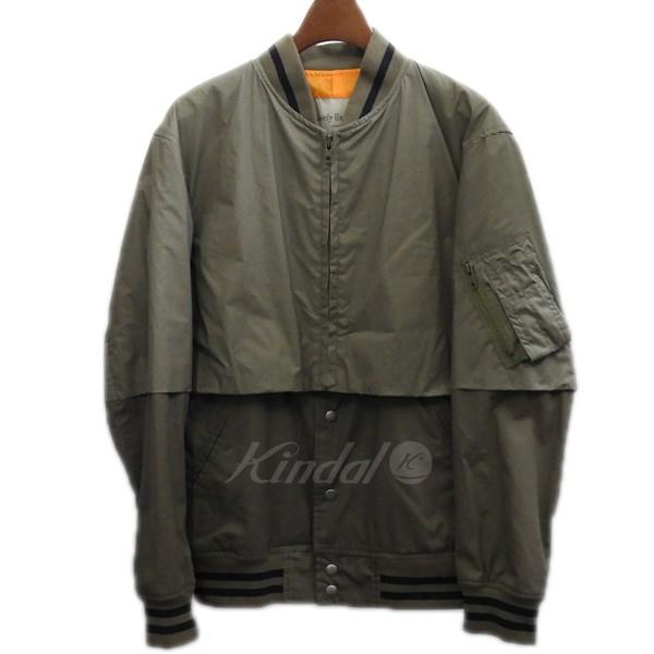 【中古】Casely-Hayford フェイクレイヤードMA-1ジャケット カーキ サイズ:34 【170720】(ケイスリーヘイフォード)