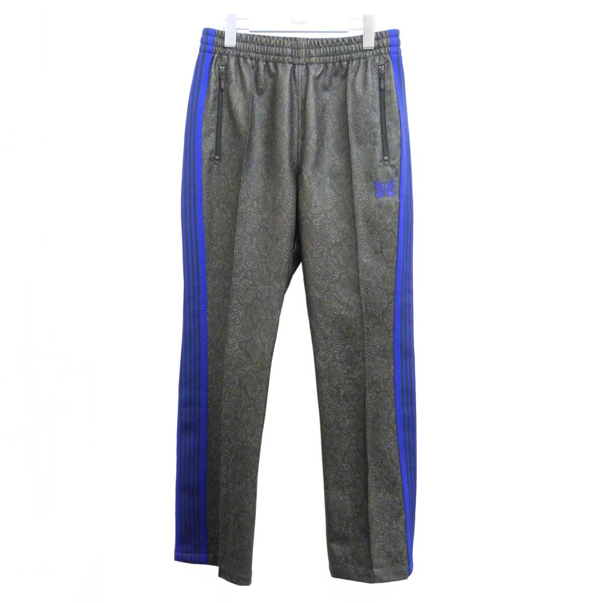 【中古】Needles 20SS「Synthetic Leather」トラックパンツ ダークグレー×パープル サイズ:S 【170720】(ニードルス)
