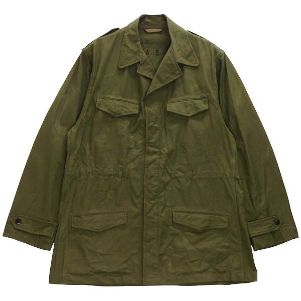【中古】MILITARY フランス軍 M-47 前期 フィールドジャケット 50s ビンテージ オリーブ サイズ:46 【180720】(ミリタリー)