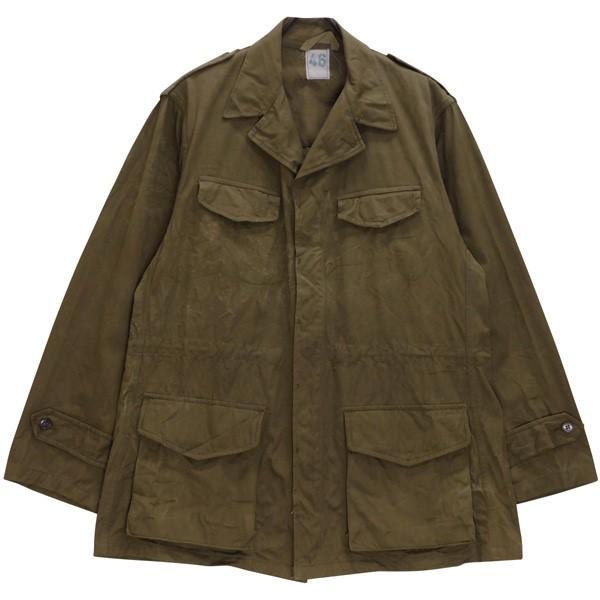 【中古】MILITARY フランス軍 M-47 後期 フィールドジャケット 60s ビンテージ オリーブ(ややブラウン寄り) サイズ:46 【180720】(ミリタリー)