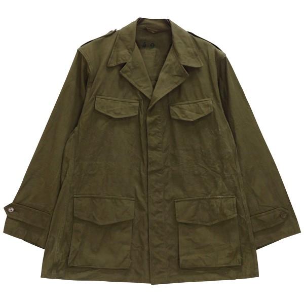 【中古】MILITARY フランス軍 M-47 前期 フィールドジャケット 50s ビンテージ オリーブ 【180720】(ミリタリー)